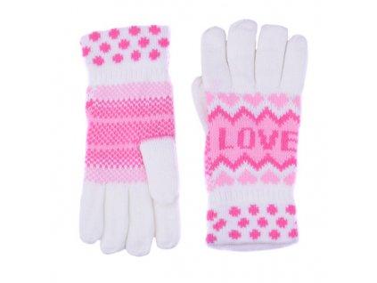 Pletené rukavice Love 6 barev