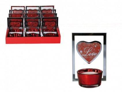 Svícen na čajovou svíčku Love