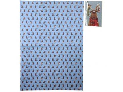 Balicí papír Vánoční sob 70x100 cm + visačka