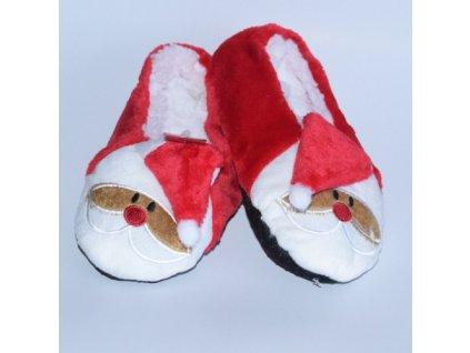 Dětské vánoční bačkůrky Santa šikmá čepička