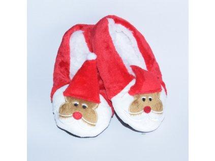 Dětské vánoční bačkůrky Santa rovná čepička