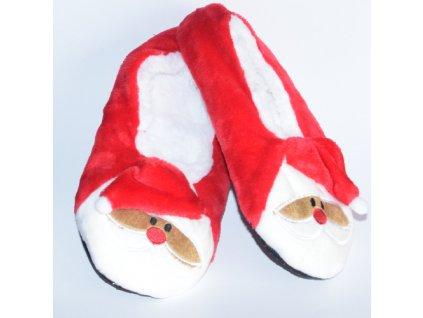 Vánoční bačkory Santa šikmá čepička