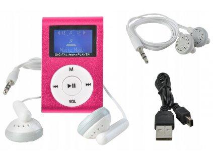 MP3 MINI přehrávač - růžová