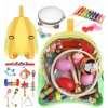 Kruzzel 9419 Sada dřevěných hudebních nástrojů pro děti 24 ks