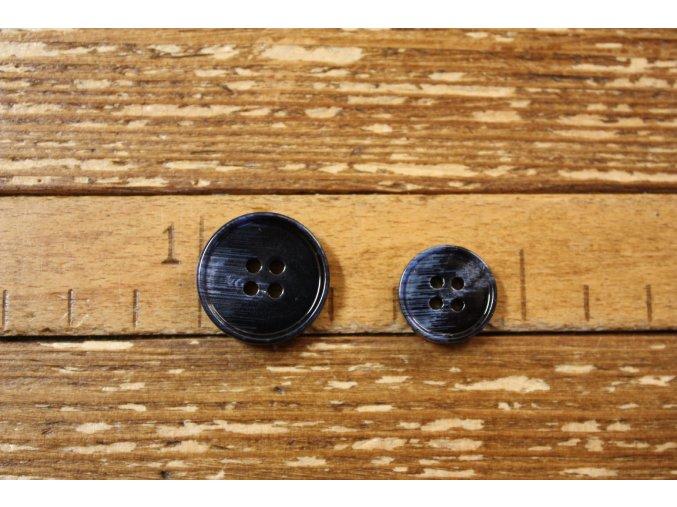 Tmavě modrý knoflík, 15 mm, 20 mm