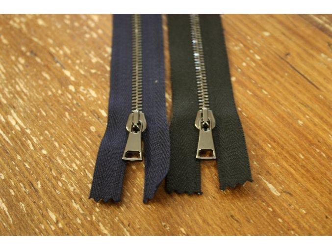 Černý a modrý zipy T3,  60cm