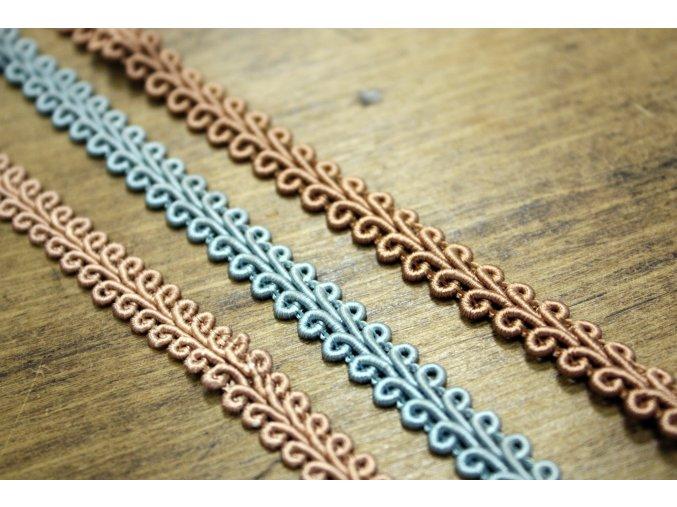 Prýmky ve třech barvách, 7 mm