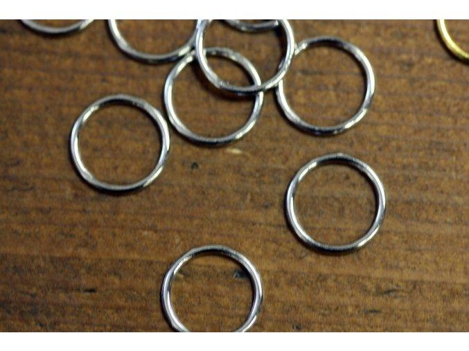 Stříbrné zapínání na podprsenku kolečko, 10mm