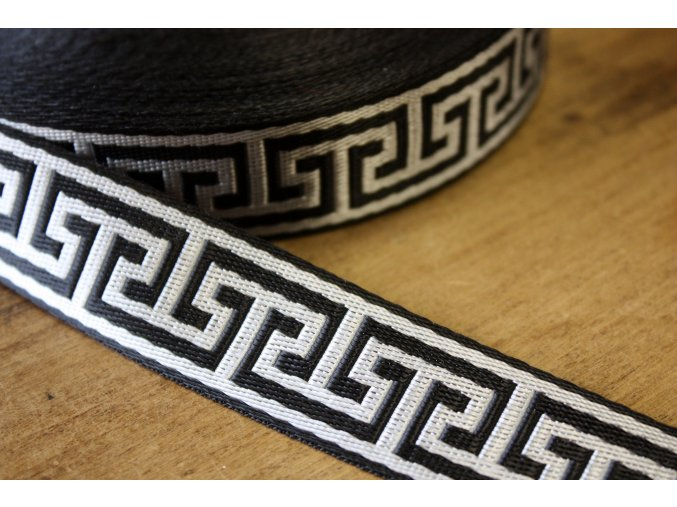 Černo-stříbrný popruh á la Versace, 3cm