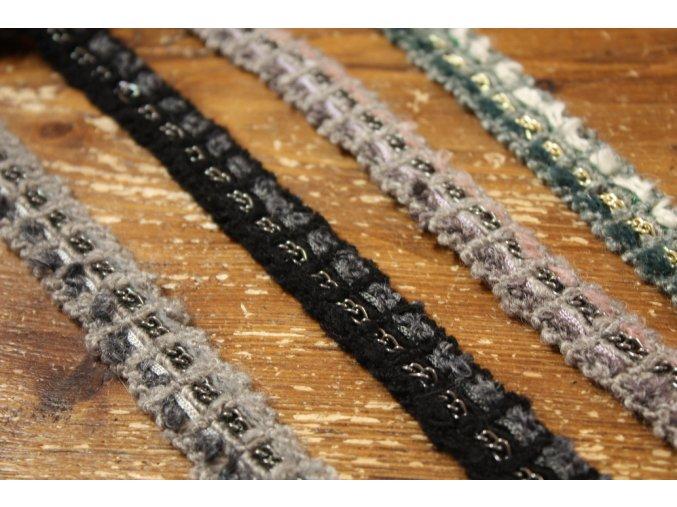 Vlněná bordura s řetízkem Chanel