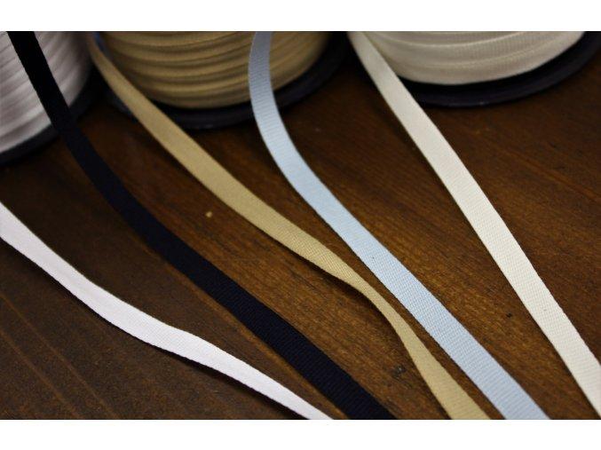 Bavlněná rypsová stuha, 6mm