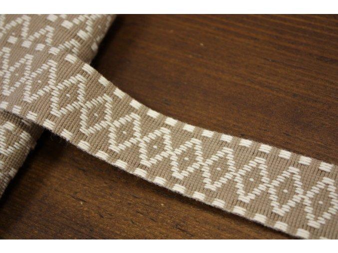 Bavlněná žakárová stuha, 27mm