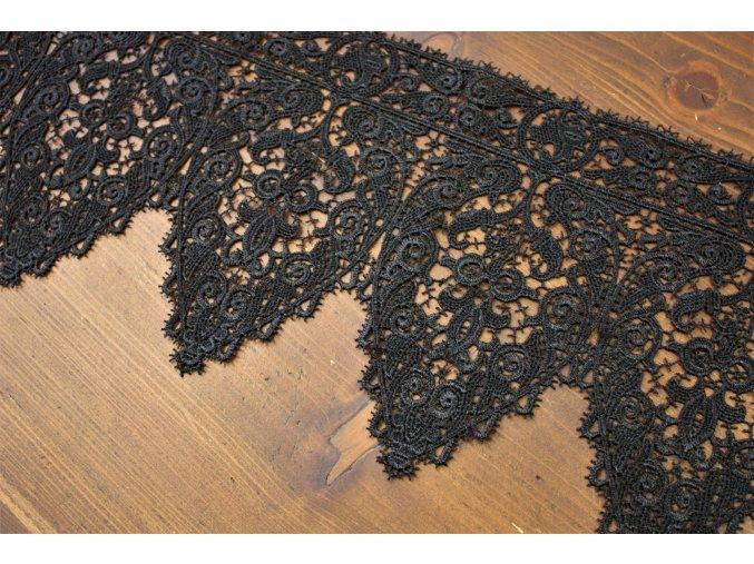 Luxusní černý guipure, 20cm