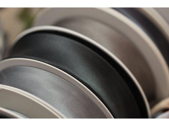 Saténový šikmý proužek, odstíny šedé 14mm