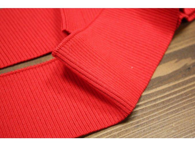Červený žebrovaný náplet, 7cm