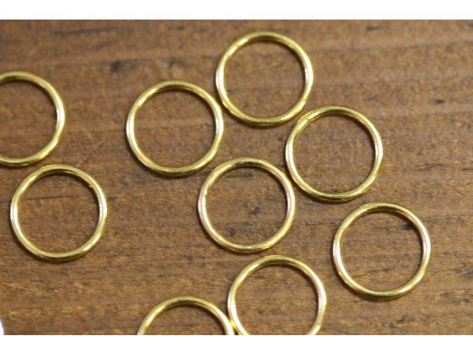 Zlatá kolečka na podprsenku, 12mm