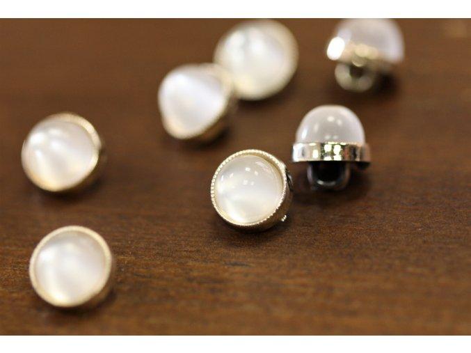Plastový knoflík s perličkou, 11,5mm