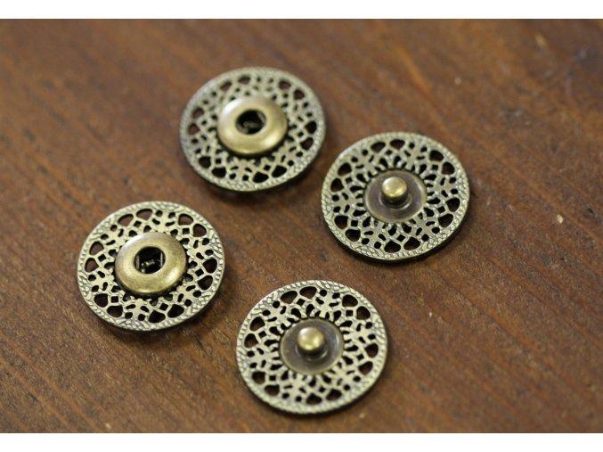 Mosazné kovové patenty, 25mm
