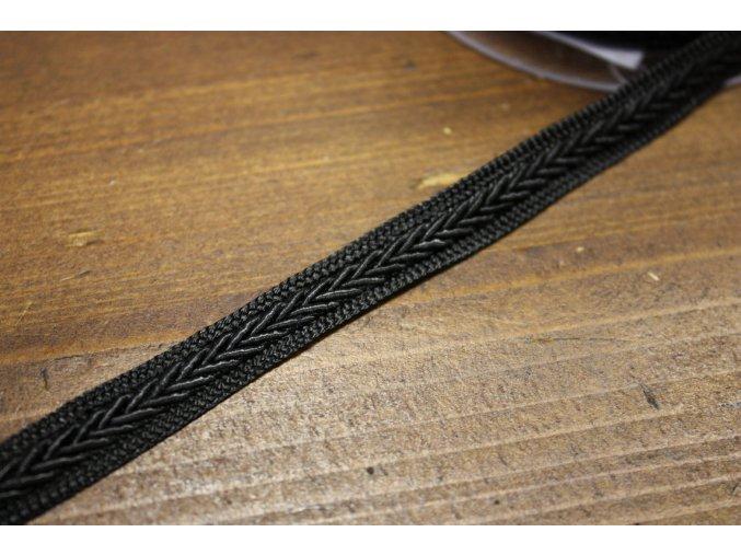 Černý prýmek, 12mm
