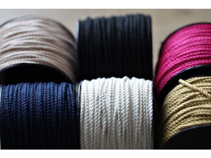 Bavlněný provaz, 2,5mm
