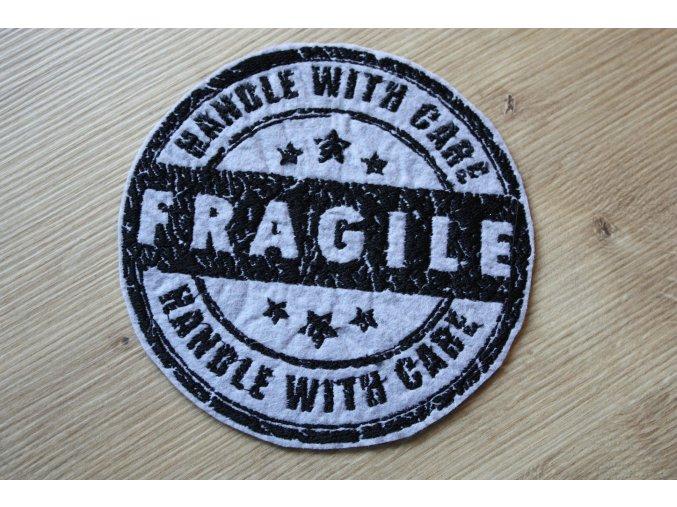 """Šedo-černá aplikace """"Fragile"""""""