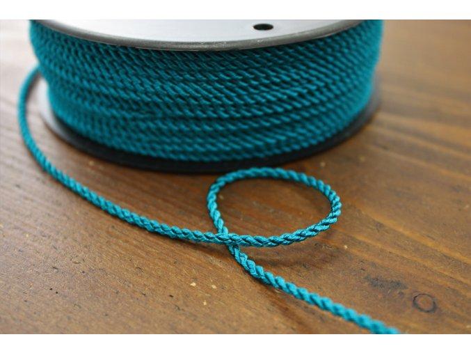 Kroucený provaz v tyrkysové barvě, 2,5mm