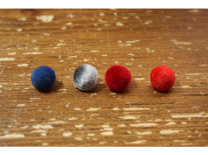 Sametový  knoflík, 12 mm