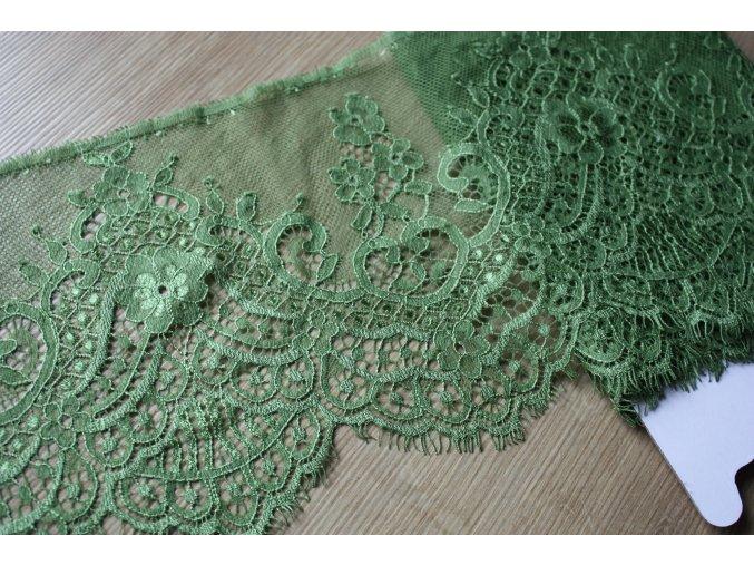 Zelená krajka, 17cm