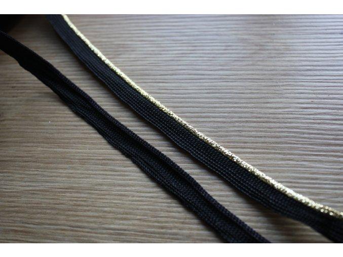 Zlatá a černá paspulky, 3mm