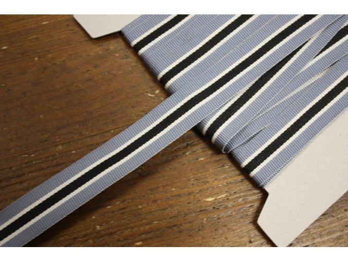 Pruhovaná rypsová stuha, 20mm