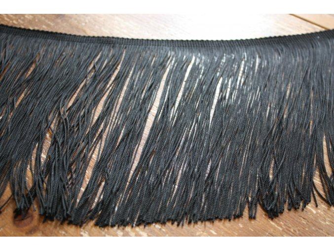 Dlouhé černé třásně, 20 cm