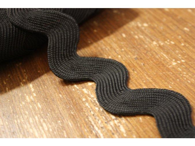 Široká černá vlnovka, 40 mm