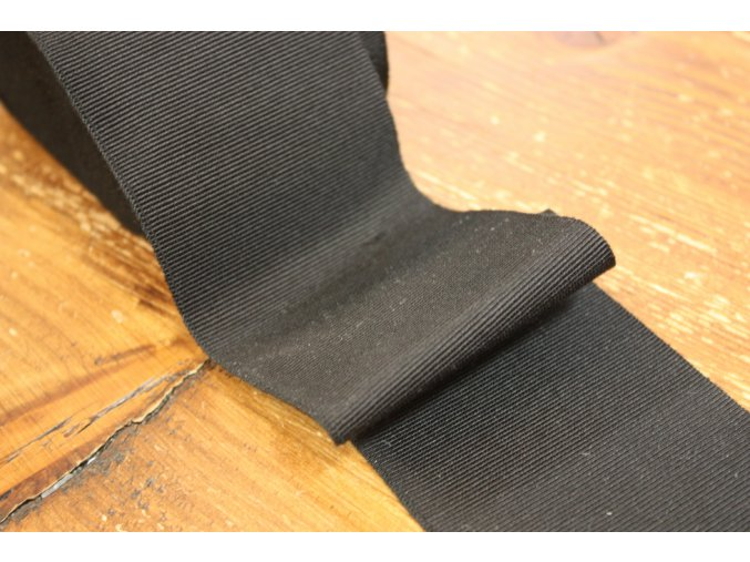 Černá rypsová stuha, 70mm