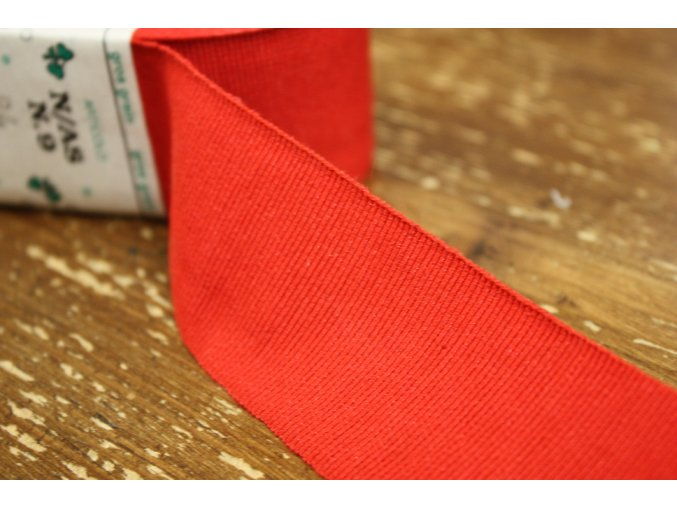 Červená rypsová stuha, 40mm