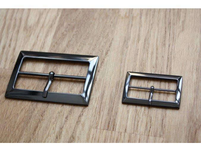Tmavě stříbrná spona, 38mm a 58 mm
