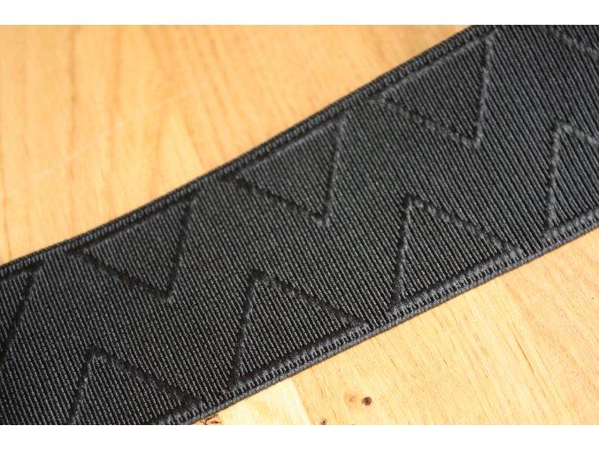 Černá  guma s ornamentem, 50 mm
