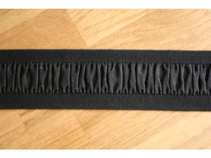 Černá gumas volánkem, 50 mm