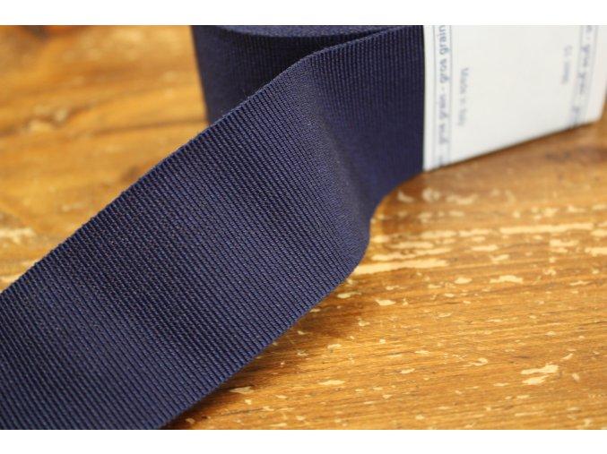 Modrá rypsová stuha, 40mm