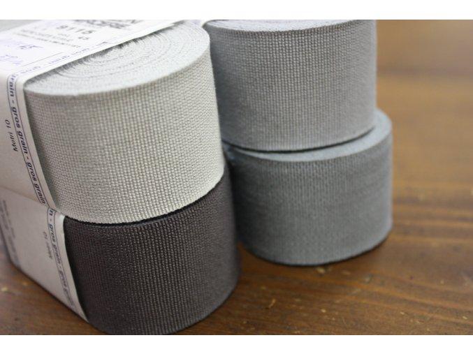 Rypsová stuha v odstínech šedé, 40mm