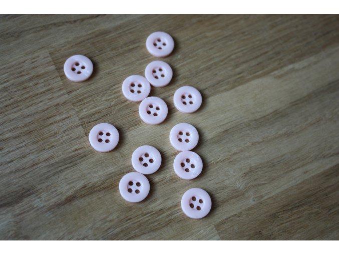 Růžový košilový knoflík, 11mm