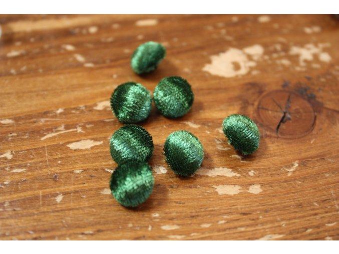 Zelený sametový knoflík, 12 mm