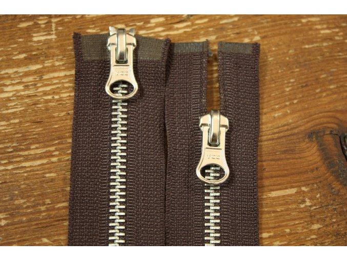 Hnědý zip dva jezdce, 80cm a 110cm