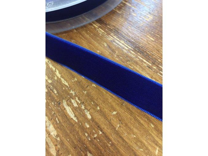 Sametová stuha v pařížské modré, 15 mm