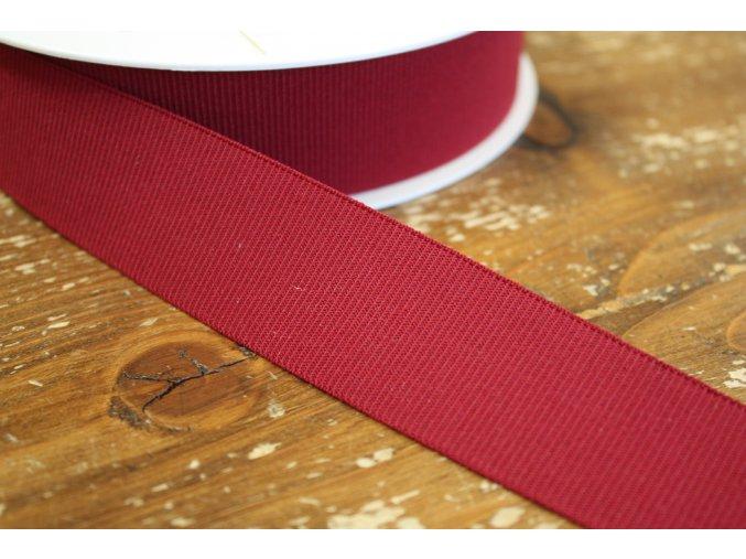 Rypsová bordó guma, 35 mm