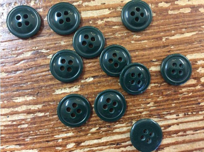 Tmavě zelený knoflík 13 mm