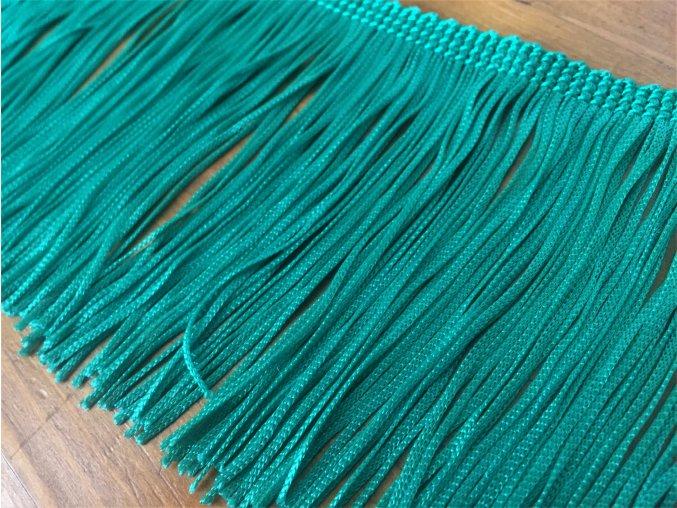 Zelené viskózové třásně, 9 cm