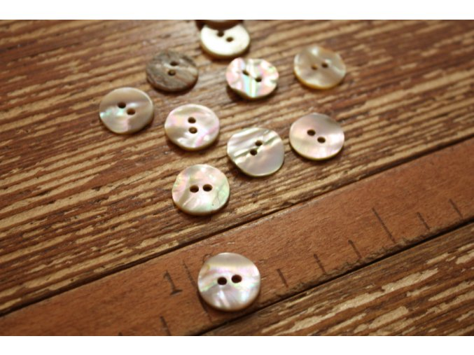Dvoudírkový perleťový knoflík,12mm