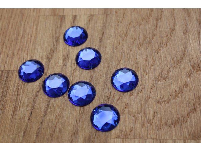 Našívací modrý kamínek (kulatý)