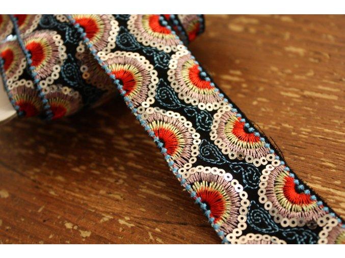 Vyšívaná bordura s flitry design Kenzo