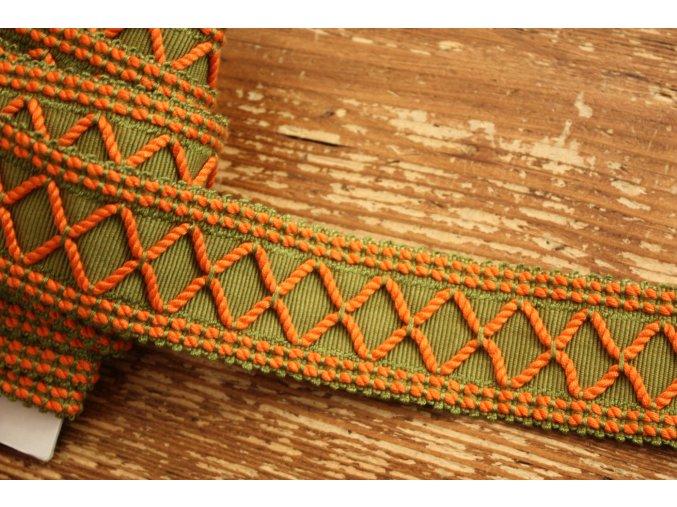 Zeleno-oranžová stuha